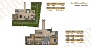 دوبلكس 266م للبيع في المنطقة السابعة مدينة الشروق